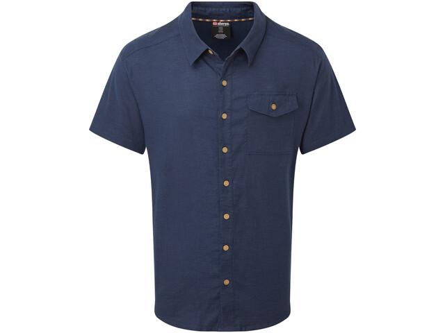 Sherpa Kiran Camiseta Manga Corta Hombre, azul